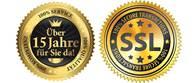 Seit 15 Jahren für Sie da - jetzt mit SSL Zertifikat